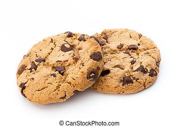 schokoladenbrauner span, cookie.