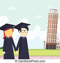 scholar couple italy