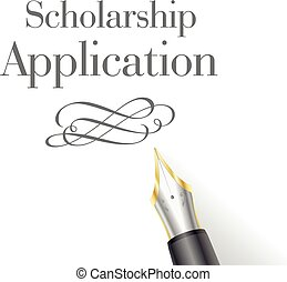 Scholarship Application letter - illustration of a...