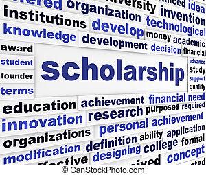 Scholarship conceptual message design. Students financial...
