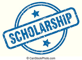 scholarship grunge stamp - scholarship round vintage grunge...