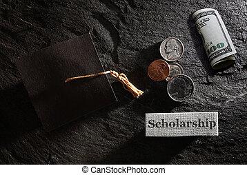 Scholarship money concept