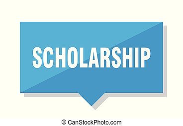 scholarship price tag - scholarship blue square price tag
