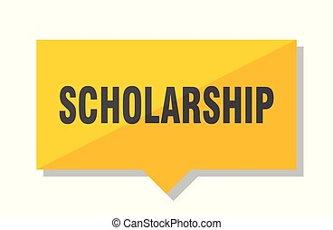 scholarship price tag - scholarship yellow square price tag