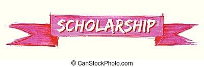 scholarship ribbon - scholarship hand painted ribbon sign