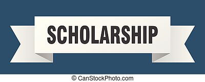scholarship ribbon. scholarship isolated sign. scholarship...