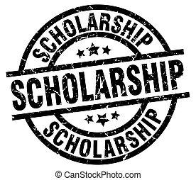 scholarship round grunge black stamp