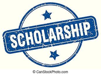 scholarship round grunge isolated stamp