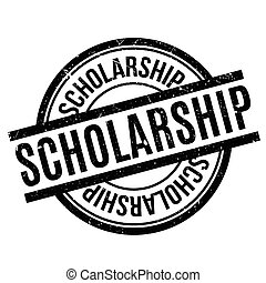 Scholarship rubber stamp. Grunge design with dust scratches....