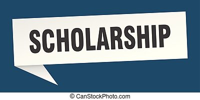 scholarship speech bubble. scholarship sign. scholarship...