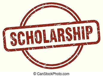 scholarship stamp isolated on white