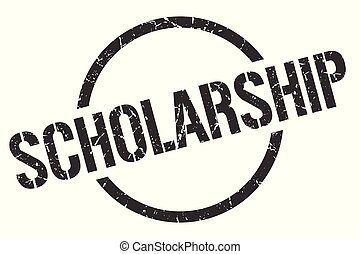 scholarship stamp - scholarship black round stamp