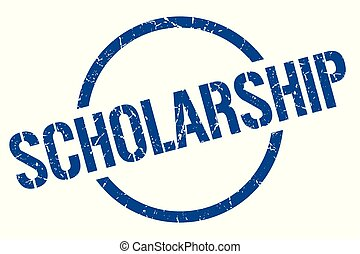 scholarship stamp - scholarship blue round stamp