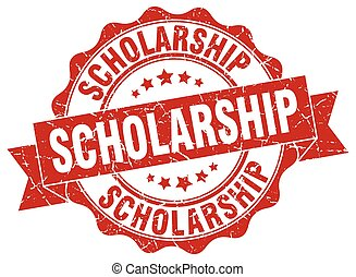 scholarship stamp. sign. seal