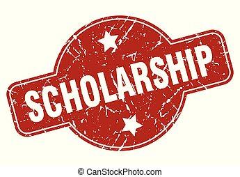 scholarship vintage stamp. scholarship sign