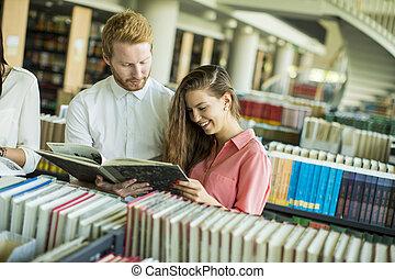 scholieren, bibliotheek