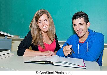 scholieren, studerend , universiteit