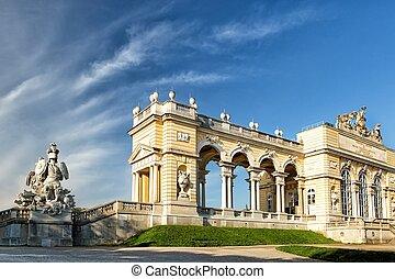 schonbrunn, gloriette, palast, pavillon, wien