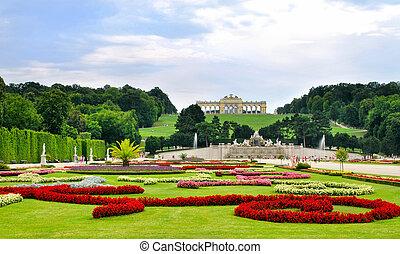 schonbrunn, jardines, palacio, viena