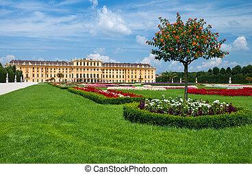 Schonbrunn Palace in Vienna. Austria