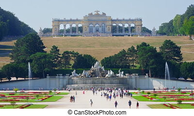 """schonbrunn palace, vienna, austria, timelapse, 4k"""