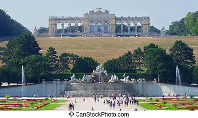 """schonbrunn palace, vienna, austria, timelapse, zoom out,..."