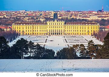 Schonbrunn Palace, Vienna - Schonbrunn Palace at winter,...