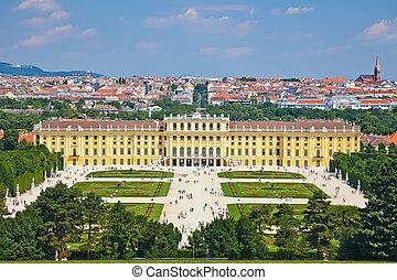 schonbrunn, wiedeń, austria, pałac