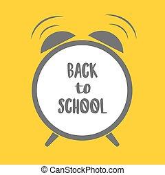 school., テキスト, 警報, 背中, 黄色, cloack, 背景