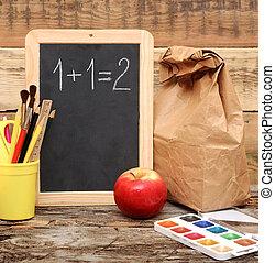 school!, 教育, 背中, concept!
