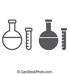 school, 10., lineair, model, buis, eps, meldingsbord, opleiding, pictogram, vector, grafiek, lijn, chemie, witte achtergrond, glyph