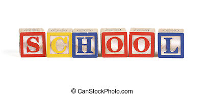 School - Alphabet blocks isolated
