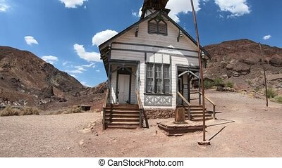 School and Chapel in Calico - Ancient school house and...