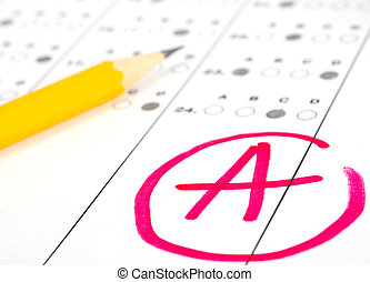 Test paper with result