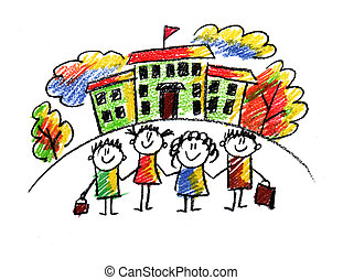 School and happy children - Picture of happy kids playing ...