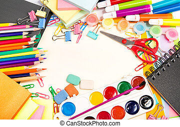 School and office stationary. Back to school concept - ...