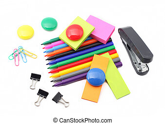 office supplies clip art and stock illustrations 35 526 office rh canstockphoto com Office Supply Room office supplies clipart black and white