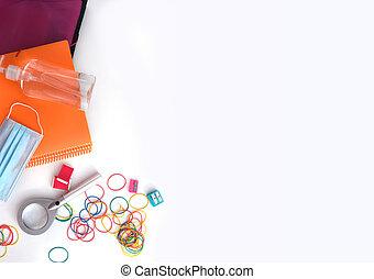 school and office utensils prevention coronavirus