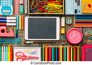 School and technology - Back to school and technology banner...