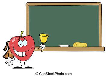 School Apple Ringing A Bell