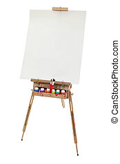 School Art Easel - School art easel, washable paints and...