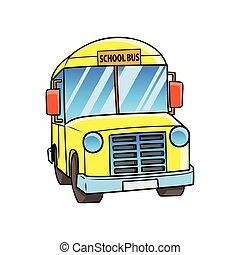 school., autóbusz