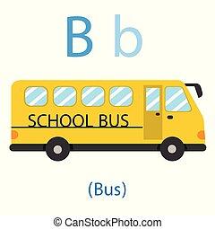 school, b, illustrator, bus, opleiding, geitje