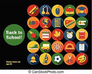 school, back, illustratie