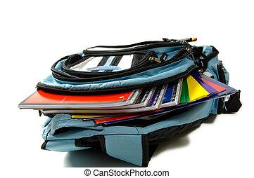 School Back Pack - School back pack full of new school...