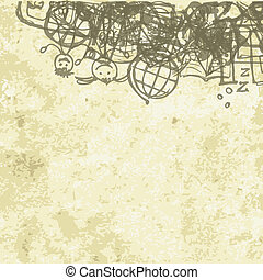 School background on grunge paper for your design