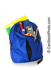 School Backpack - Backpack full of back to school supplies...