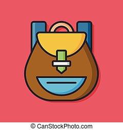 school backpack equipment icon