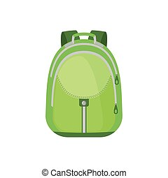 School Backpack Icon in flat style.