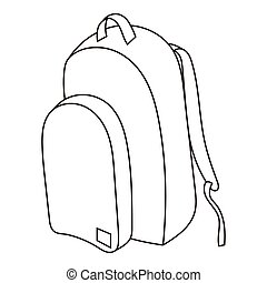 School backpack icon, outline style